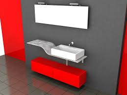 red and black bathroom decorating ideas 3d model 3ds max files