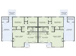 Multi Unit Floor Plans Duplex House Plans 1 Story Multi Family Plan 025m 0087 At
