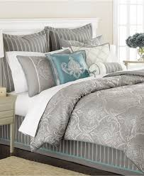 Gray And Teal Bedroom by Martha Stewart Collection Bedding Briercrest 9 Piece Comforter
