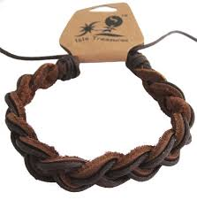 adjustable braided leather bracelet images Brown braided leather adjustable hawaiian surfer jpg