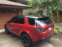 land rover discovery sport 2017 red added roof rails land rover discovery sport forum