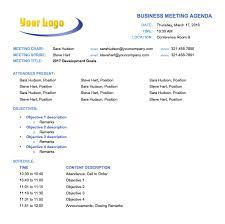 templates for business agenda free meeting agenda templates smartsheet