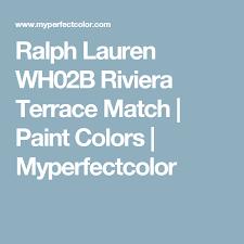 ralph lauren wh02b riviera terrace match paint colors