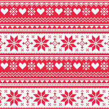 christmas pattern knit fabric nordic seamless knitted christmas red heart pattern stock