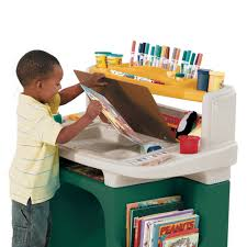 step 2 deluxe art desk step2 art master desk includes a sturdy 11 inch stool walmart com
