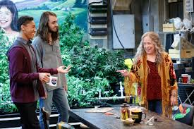kathy bates gets lit in netflix u0027s disjointed photo