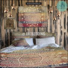 bohemian bedding mehendi mandala duvet bedding set vintage boho