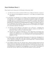 stars and planets 101 problem sheet stars astronomical unit