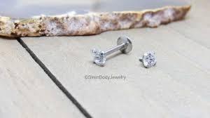 flat back earrings cartilage earring conch piercing tragus earrings flat back labret stud