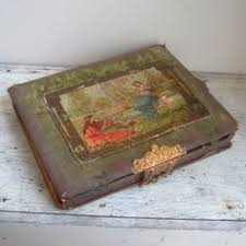 Antique Photo Album Antique Victorian Photo Album Celluloid Nymph Orange Print Velvet