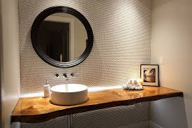 wood bathroom ideas a treat live edge vanity top redefines modern bathrooms