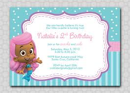 Bubble Guppies Birthday Decorations Bubble Guppies Birthday Invitation Digital 5x7 Printable