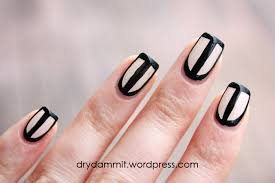 black u0026 outline border nail art dry dammit