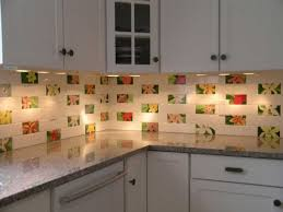 Backsplash Ideas For Kitchen Walls Kitchen Brightly White Kitchen Combined With Colorful Flower