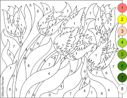 nicole u0027s free coloring pages color by number flowers spring