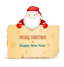 santa cap for merry and happy new year vector image
