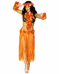 Hawaiian Halloween Costume Hawaiian Leis Coconut Bra Grass Skirts Hula Skirts