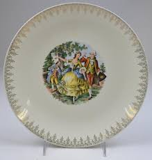 homer laughlin china virginia homer laughlin rhythm pattern colonial luncheon plate 9 25 wide