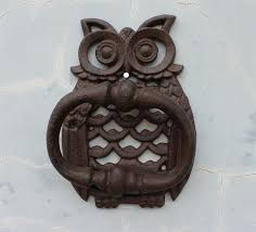 decorative door knockers rustic cast iron owl decorative door knocker traditional vintage