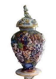 Capodimonte Vases Antique Capodimonte Ebay