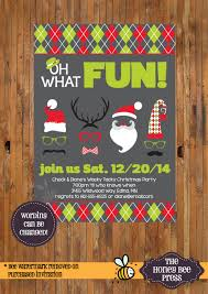 mustache invitations christmas party invitation oh what fun christmas mustache