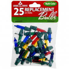 replacement bulbs 25 pack multi color national tree parts store