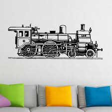old fashioned train wall sticker world of wall stickers old fashioned train wall sticker decal a