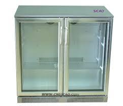 Glass Door Beverage Refrigerator For Home by 2 Glass Door Mini Beer Bottle Commercial Refrigerator Display
