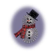 pdf pattern string snowman ornament