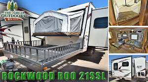 rockwood trailers floor plans 2018 forest river rockwood roo 21ssl r1079 toy hauler travel