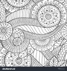 seamless asian ethnic floral retro doodle stock vector 283677425