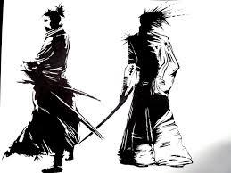 samurai ink drawing by colubusu on deviantart