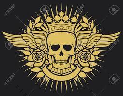 skull tattoo images free skull symbol skull tattoo design crown laurel wreath wings