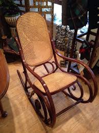 Bent Wood Rocking Chair Rare Vintage Habitat Thonet Style Bentwood