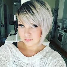a symetric hair cut round face asymmetrical bob haircut for short hair