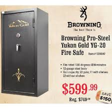 best black friday rifle deals browning pro steel yukon gold yg 20 fire safe 599 99