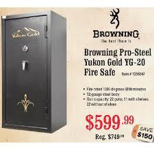 best black friday firearm deals browning pro steel yukon gold yg 20 fire safe 599 99