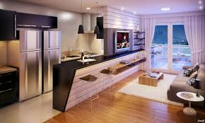 apartment apartment with balcony and open plan living room nila