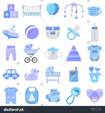 baby boy icons set vector baby stock vector 667944808 shutterstock