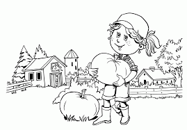 simple fall coloring pages coloring home