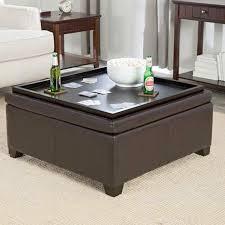 charming table ottoman coaster storage ottoman coffee table tray