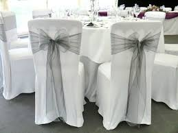 white wedding chair covers wedding chair covers with bows decorating for receptions chapwv