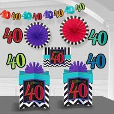 40th Bday Decorations 40th Birthday Decorations U0026 Banners 40th Birthday Party Party