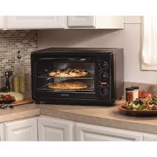 Hamilton Beach 6 Slice Convection Toaster Oven Hamilton Beach Black Convection 6 Slice Toaster Oven W Broiler