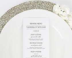 simple elegance wedding menus wedding menus by shine