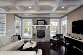 coffered ceiling paint ideas living room contemporary with neutral