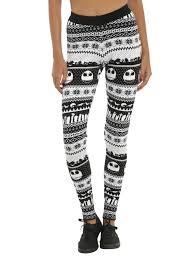 the nightmare before christmas fair isle leggings topic