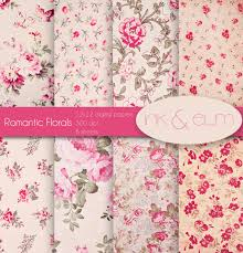 Shabby Chic Rose by Shabby Chic Rose Digital Paper Vintage Floral And Rose