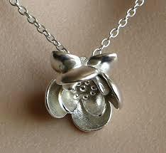 flower silver necklace images Solid sterling silver lotus 3d flower pendant jpg