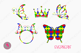 autism svg file autism awareness svg file autism butterfly svg